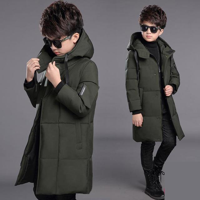 Special Price -30 Degree Children Cold Winter Hooded Jackets Kids Big Fur Collar Jacket Boys Thickened Warmer Outerwear & Coats 10 12 14 Year