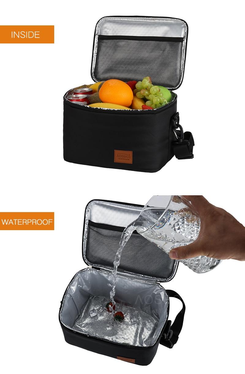 homens grandes sacos de almoço térmico portátil