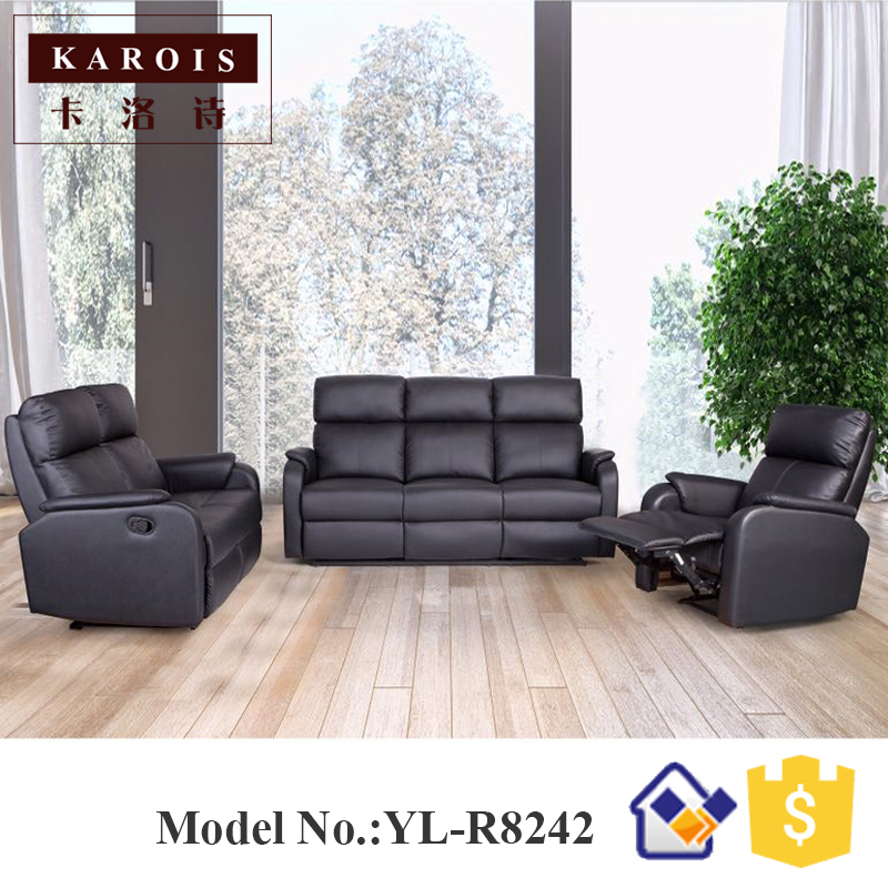 dubai modern leather living room furniture 3 seat recliner sofa-in ...