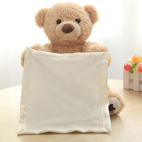 Cute Peek A Boo Teddy Bear Play Hide And Seek Lovely Cartoon Stuffed Animal Bear Kids