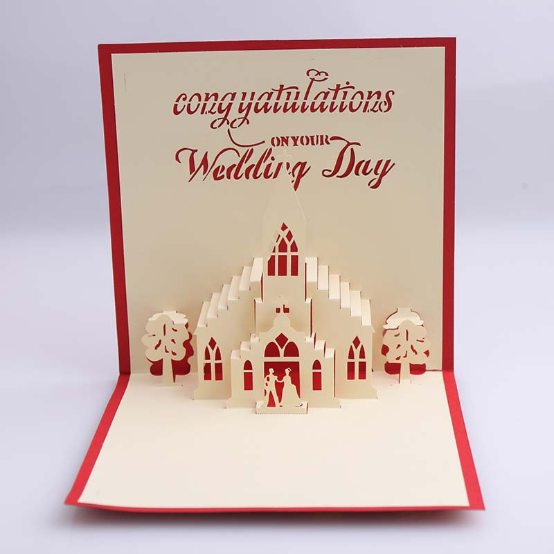 50 Pieces A Lot Creative 3d Church Wedding Invitations