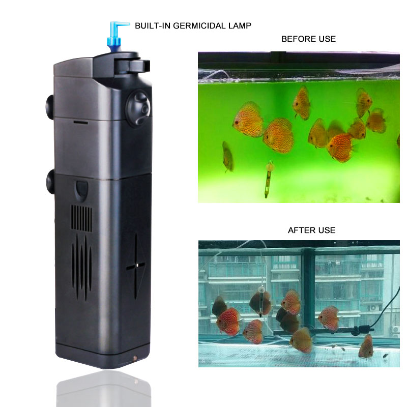 SUNSUN UV Filter Air Pump 15W 17W 21W Fish Tank Oxygen Pump For Aquarium Pumping Water Fish Tank Filter 220V Plastic Shell