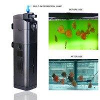 SUNSUN UV Filter Air Pump 15W 17W 21W Fish Tank Oxygen Pump For Aquarium Pumping Water Fish Tank Filter 220V Plastic Shell