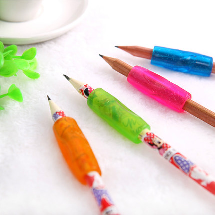 4pcs/pack Colorful Soft Hands Fit Silicone Material Childrens Pencil Grip Correct Posture To Hold Pen