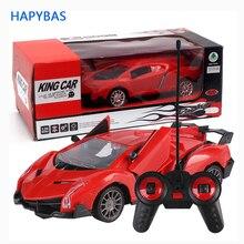Coche deportivo de carreras con Control remoto, Radio de velocidad con apertura para puerta de coche, escala 1:24, regalo de Navidad para chico