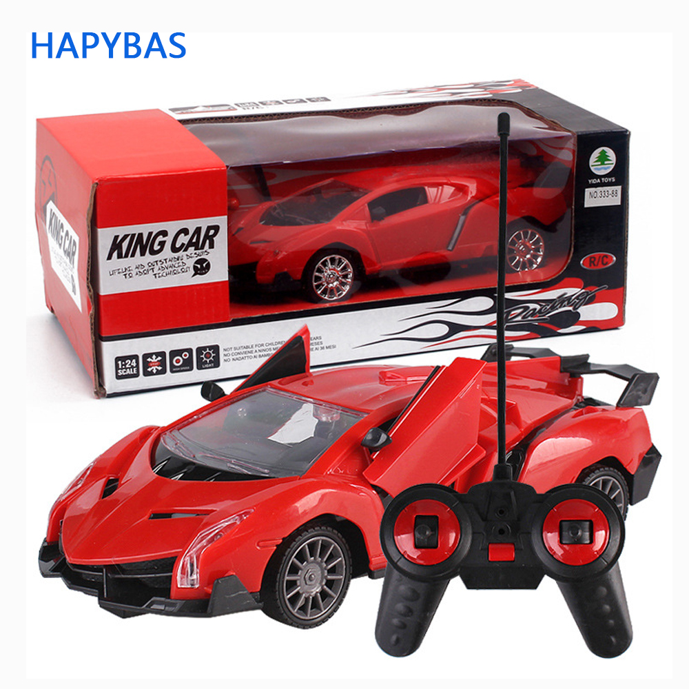 Upgrade version Super Racing Car door open Rc Speed Radio Remote Control Sports Car 1:24 Motor Xmas Gift Kid toy-in RC Cars from Toys & Hobbies
