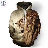Autumn Winter Fashion Lion Ancient Digital Printing Men Women Hooded Hoodies Cap Baseball Windbreaker Jacket 3d