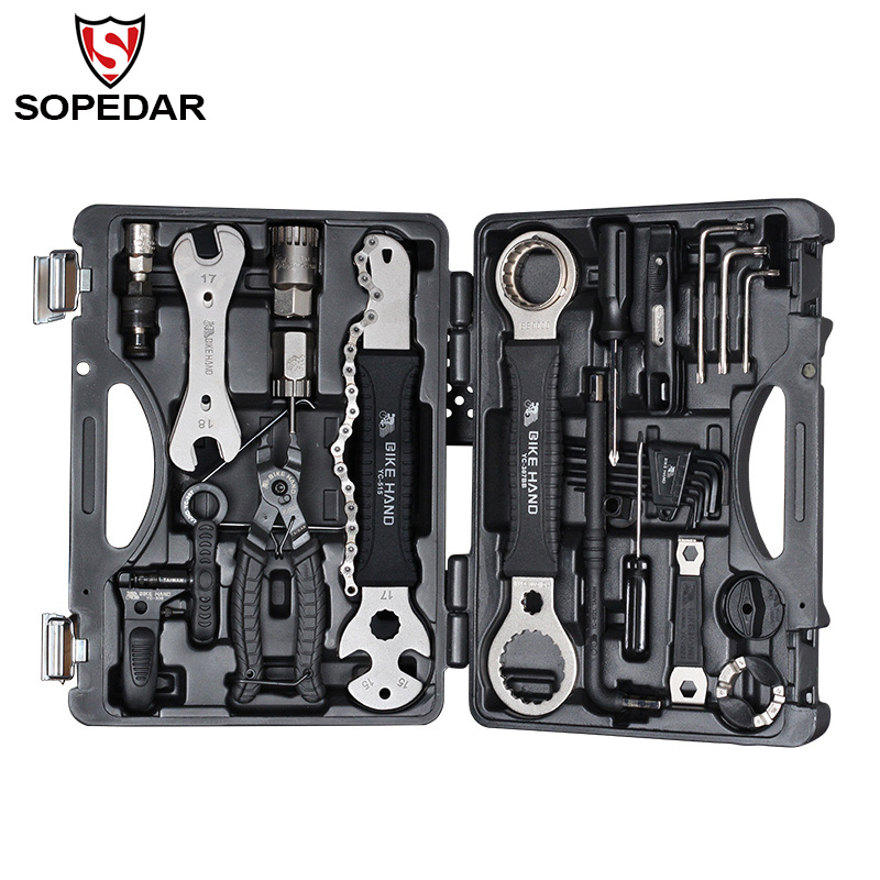 SOPEDAR 18 in 1 Multifunction Bicycle Repair Tools Kit Set MTB Tire Chain Repair Tool Bike Spoke Wrench Hex Screwdriver Tools