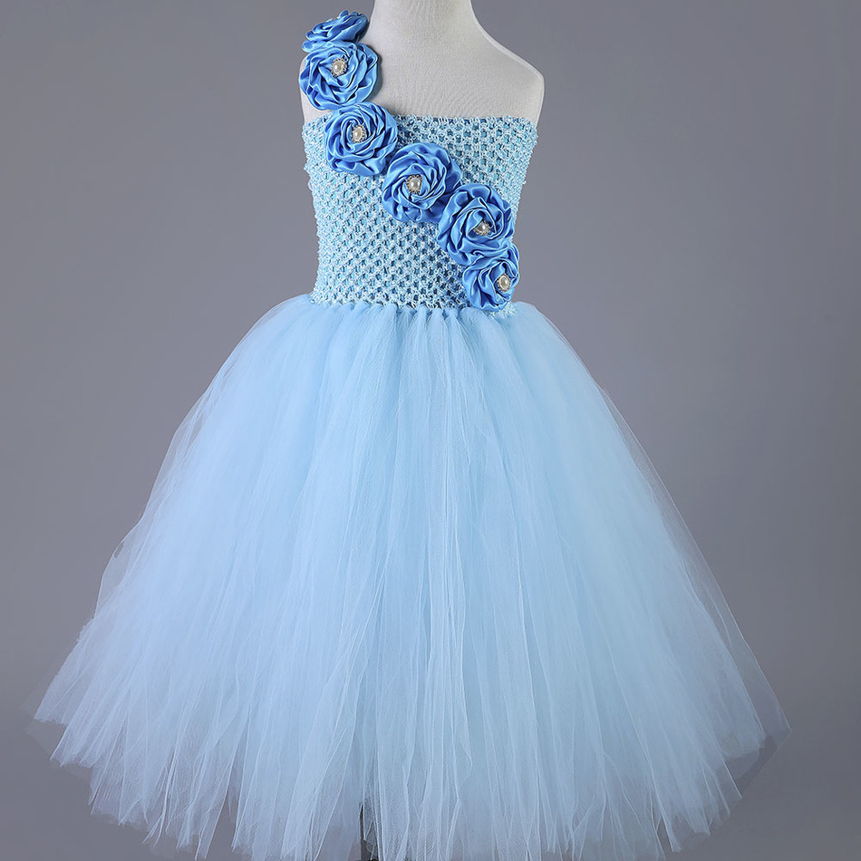 Elegant Cute Princess Tutu Dress Flower Girl Tulle Dresses Baby Kids ...