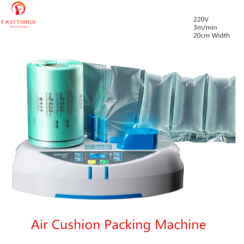 Buffer bubble bag inflator Air Cushion Machine 3m min 20cm Width for Air Dunnage Air Pillows