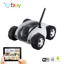 App FPV Wifi Controlled RC Tank Cloud Rover Remote Control Robot with 720P HD Camera Real-time VR RC Car Toys Wireless Recharge(China)