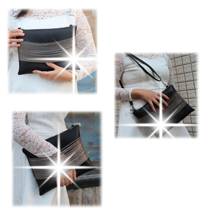 Image 4 - Quality Guarantee ! 2018 women black leather Purses And Handbags evening clutch bags Day Clutches