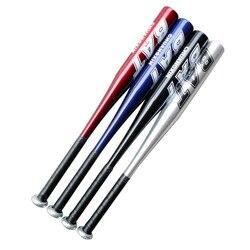 Alta resistência treinamento softball bastão de beisebol vara de alumínio taco de beisebol duro bola 20 polegada preto prateado azul vermelho taco de basebo
