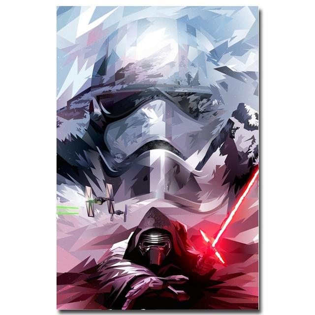 Плакат гобелен шелковый Звездные войны 7 арт