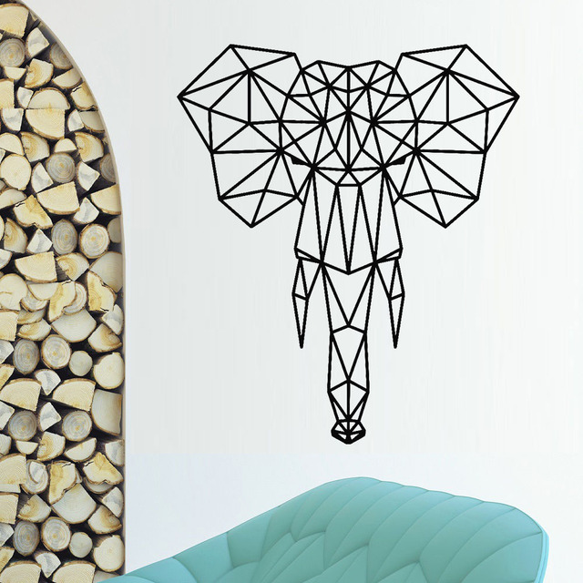 Abstract Elephant Head Wall Stickers Home Decor Bedroom Removable Geometric African Animal Wall Decal Art Vinyl Wallpaper S227 Buy Cheap In An Online Store With Delivery Price Comparison Specifications Photos And