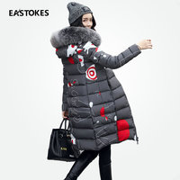 Women Reversible Coats With Large Fur Collar Slim Fits Ladies Winter Hooded Jackets Female Long Parkas