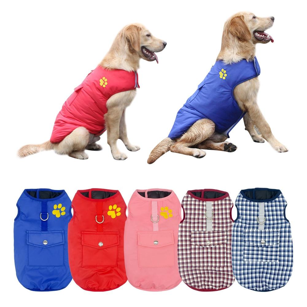 Зимние Товары для собак домашних животных Костюмы одежда для йорков маленький большой собаки Водонепроницаемый жилет Pet куртка Чихуахуа Мо... ...
