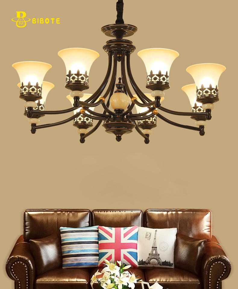 Modern LED Chandelier With LED Bulbs Retro Lamp For