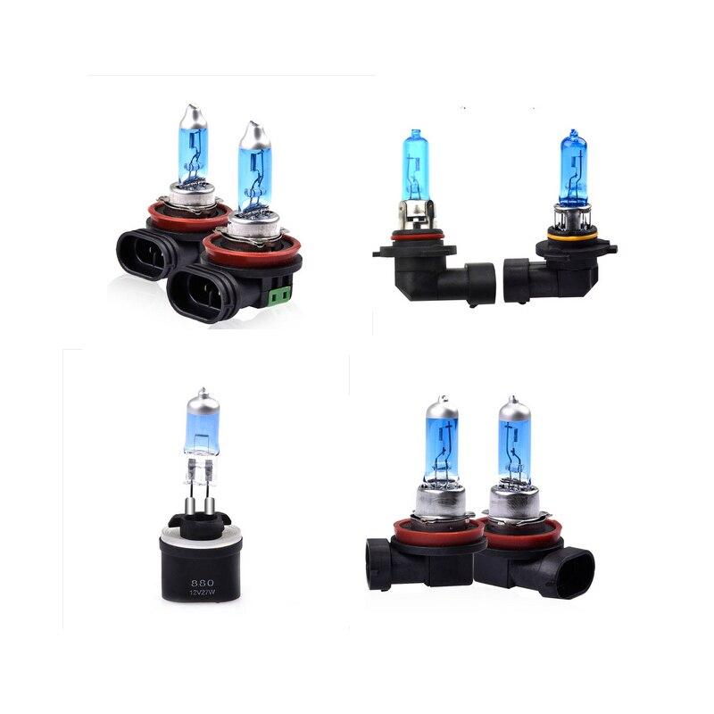 2Pcs Car Light Bulb H11 H8 880 H11 9005 9006 HB3/HB4 880/881 Auto White Fog Lights 27W 35W 55W 60W 65W 100W 12V 24V