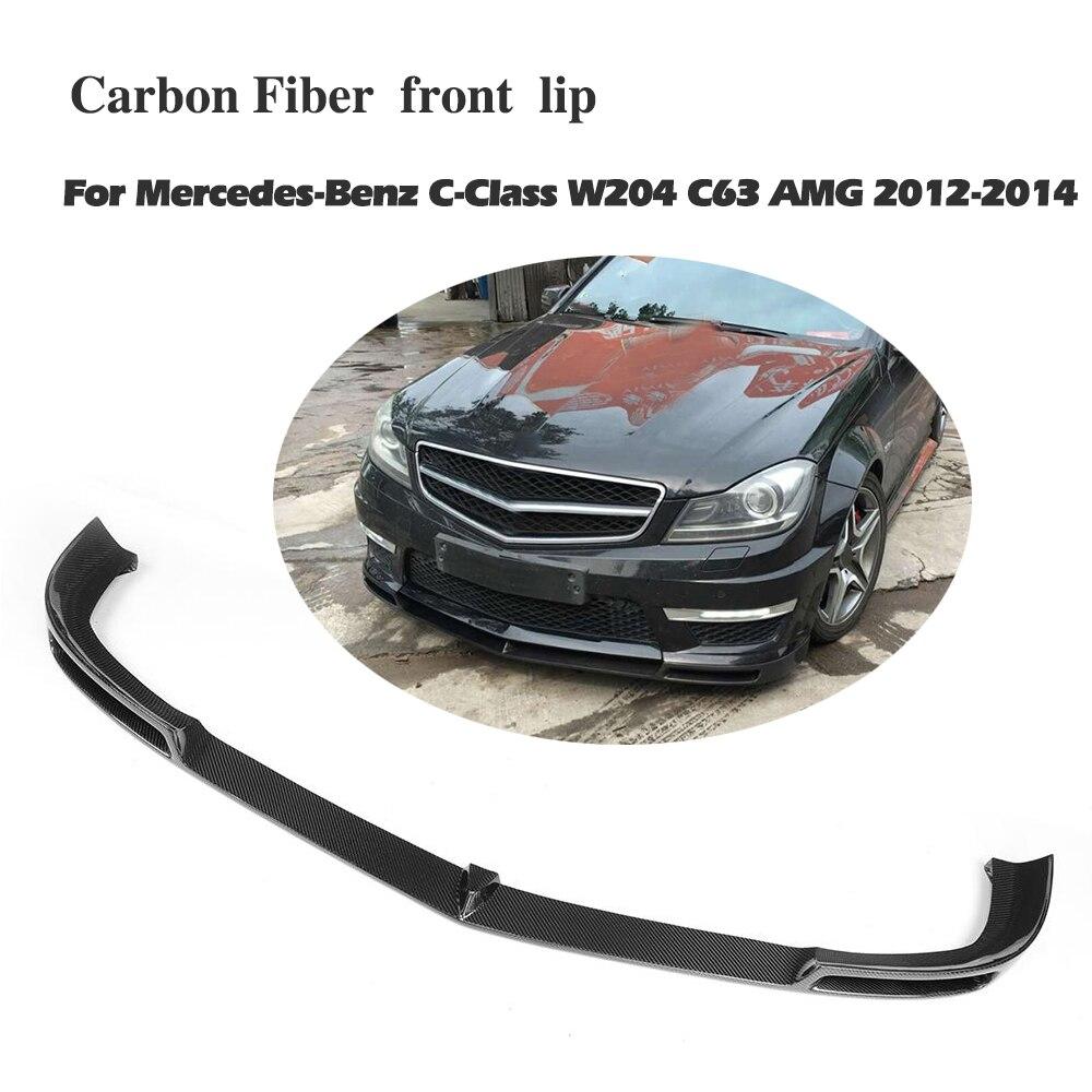 Юбка переднего бампера из углеродного волокна спойлер для Benz C Class W204 C63 бампер 2012 2013 2014 2015 2016