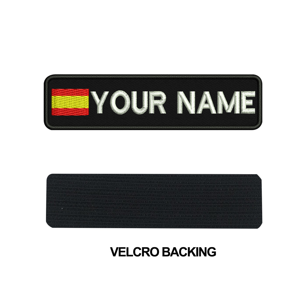 Image 5 - Custom SPAIN name patches tags personalized iron on hook backing-in Patches from Home & Garden