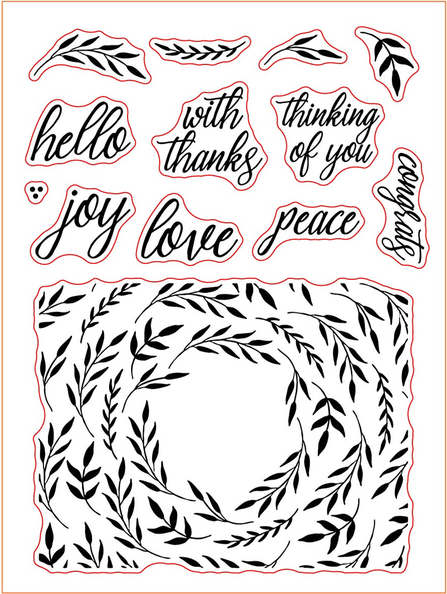 Willow Branches Congrats Words Clear Silicone Stamp for DIY Scrapbooking Photo Album Decorative Card Making 6x8 inch New 2019