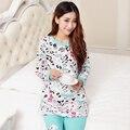 Algodão Maternidade Sleepwear Terno Pijama Grávidas Enfermagem Tops + Calças Camisola Roupas Aleitamento Materno para Mulheres Grávidas B119