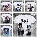 Anime Black Butler T camisa homens manga curta dos desenhos animados Sebastian Michaelis t-shirt Cosplay roupas frete grátis XD-024