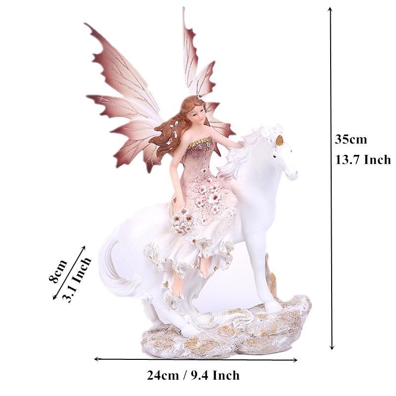 Fairy Garden Miniatures 7 Styles 13.7 Resin Craft Unicorn Horn Angel Figurines Lovely Flower Statue Home Decor Creative