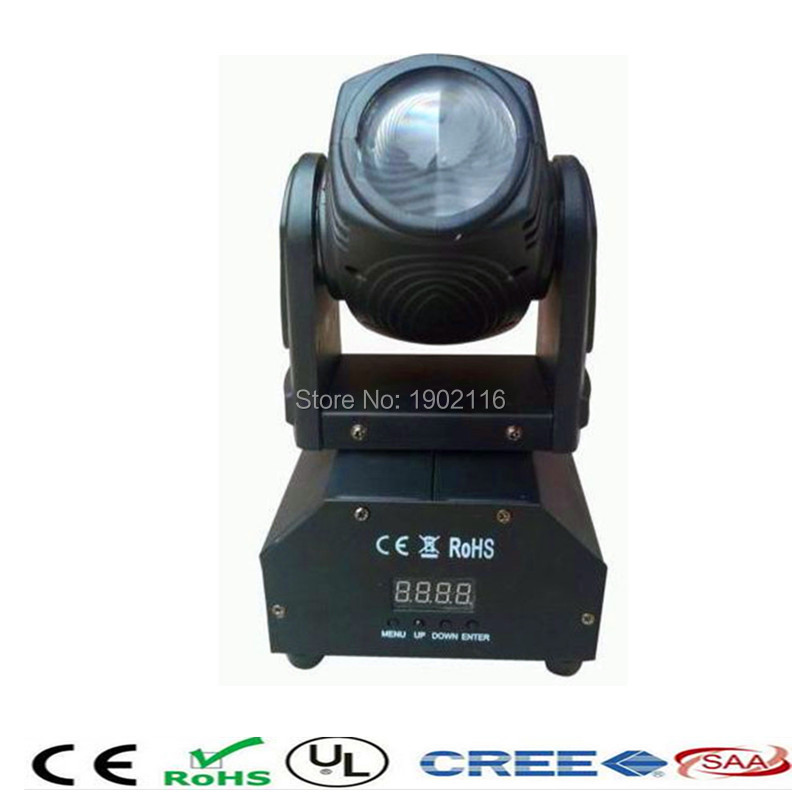 ФОТО Factory sale 10W Mini Moving Head Stage Light/RGBW DMX Control home Party Wedding DJ Show lights/ holiday light/led beam lamp