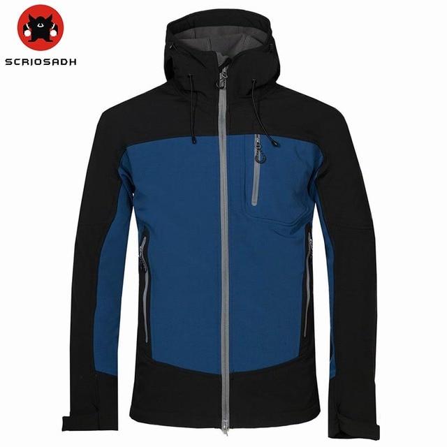 SCRIOSADH Male Outdoor Breathable Soft shell Hiking Jacket Men Waterproof  Windbreaker Jacket Climbing Trekking Hunting Jacket 932c21daa990
