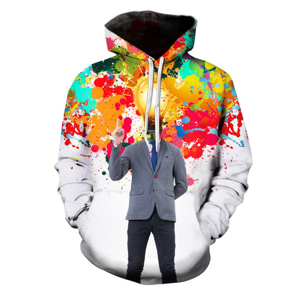 Thinker Patchwork Hoodies Sweatshirts Men Women 3D Pullover Funny Human Tracksuits Hooded Male Jackets Casual Loose Outerwears
