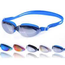 Unisex Professional Swimming Glasses Goggles Electroplate Anti Fog UV Protection Waterproof Swim Pool Eyewear Swimwear Accessory