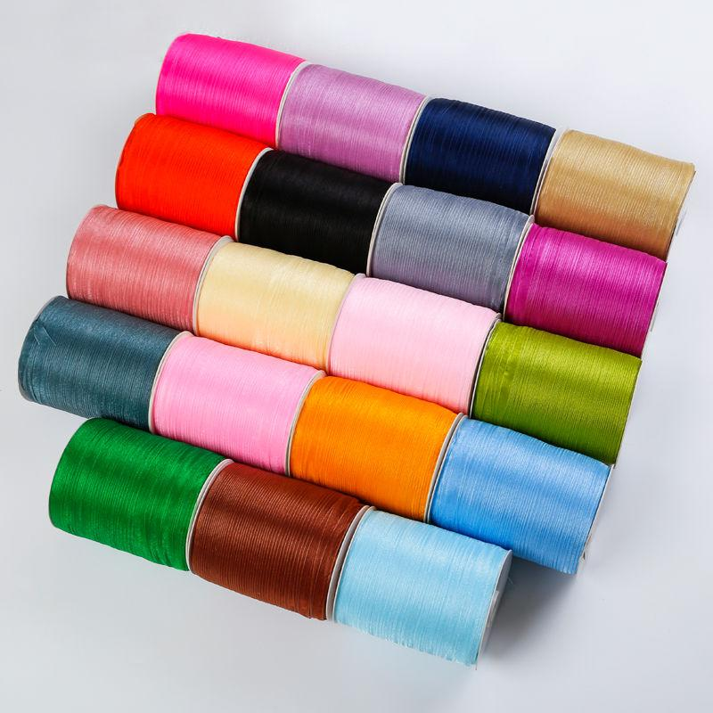 10Meters/Lot 6mm Chiffon Organza Ribbons For Wedding Birthday Party Gift Wrapping Christmas Halloween Festive Decoration Ribbons