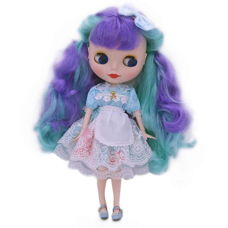 Blyth poupée BJD, usine néo Blyth poupée nue personnalisée dépoli visage poupées peuvent changer robe de maquillage bricolage, 1/6 balle articulée poupées 8
