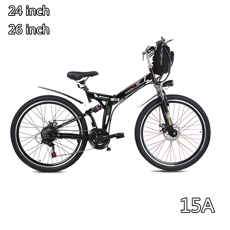 48V font b folding b font electric font b bicycle b font Mountain E bike