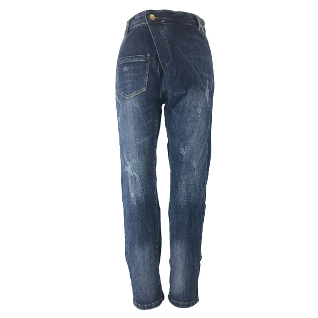 ME&SKI New Women Pants High Waist Elastic Jeans Ripped Bleached Light Washed Denim Skinny Jeans for Fashion Lady