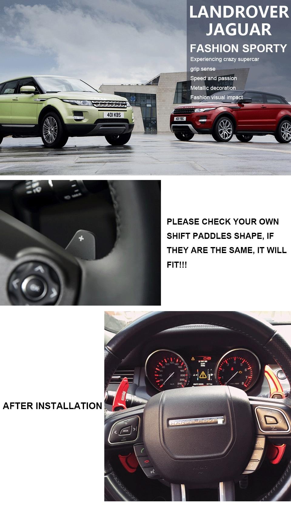 Naliovker Paleta de Cambio de Volante de Aleaci/óN de Aluminio de 2 Piezas para Land Range Rover Evoque Discovery Sport//Leopardo Xf Xe Plata