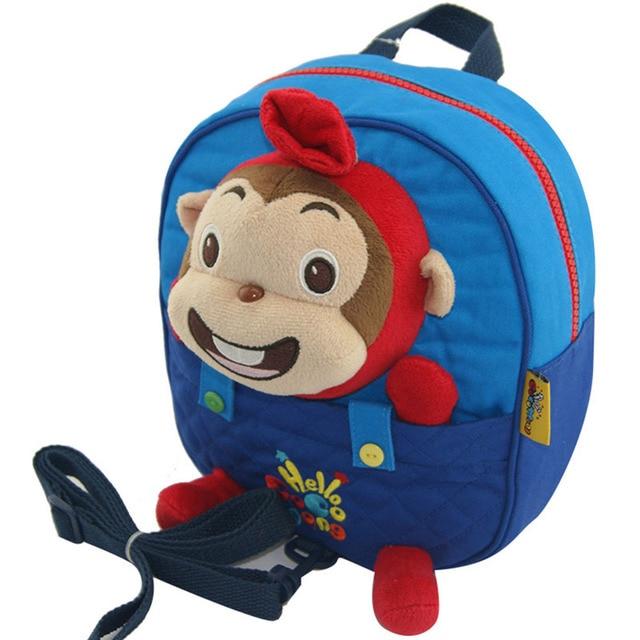 31a1571149ae 2017 Toddler Kids Children Boy Girl Cartoon monkey Stuffed Plush Backpack  Schoolbag Shoulder Bag Rucksack baby girls backpacks