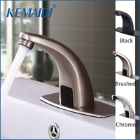 KEMAIDI Faucet Sensor Bathroom Automatic Hands Touch Free Water Saving Inductive Electric Water Tap Battery Power Basin Faucets