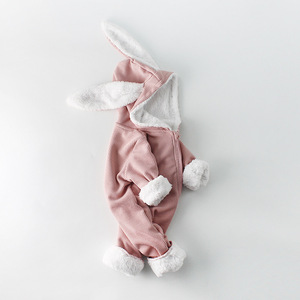 Image 5 - Winter Baby Girl Romper Long sleeved Clothes For Baby And Rabbit Ears Newborn Baby Boy Clothes