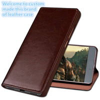 QH03 Genuine leather flip cover for Samsung Galaxy A5 2017 phone case for Samsung Galaxy A520 flip case cover with kickstand
