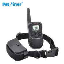 Petrainer 998D 1 elektronik köpek tasması uzaktan kumanda hiçbir şok evcil hayvan eğitim tasması ile LCD ekran ile LCD ekran