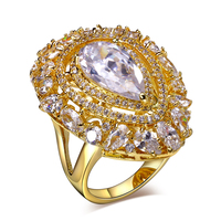 Lan Palace Boutique Engagement Ring For Women AAA Cubic Zirconia Wedding Jewelry Gold Plated Six Colors