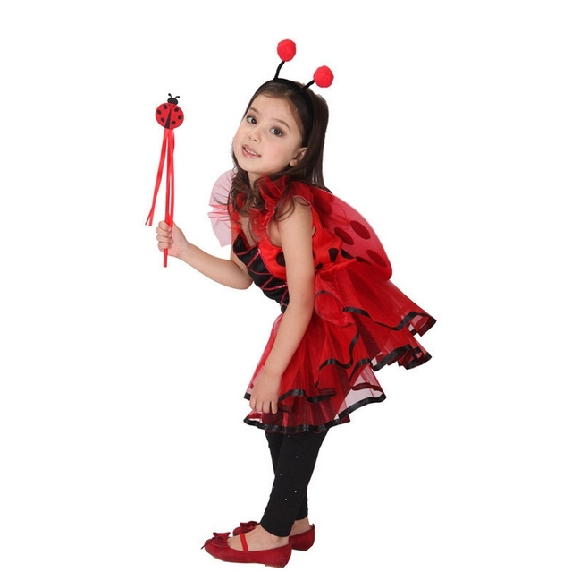 baby kids lovely sweet princess dress red bee halloween costumes girls summer beach clothing masquerade party princess outfits