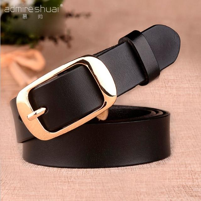 f396fde969d F 2016 nouvelle ceinture marque ceintures en cuir véritable pour les femmes  large or taille du