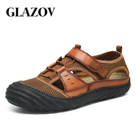GLAZOV Brand Breathable Men's Casual Shoes Summer Shoes 2019 Fashion Breathable Mesh Shoes Zapatos Hombre Size 38 44 Footwear