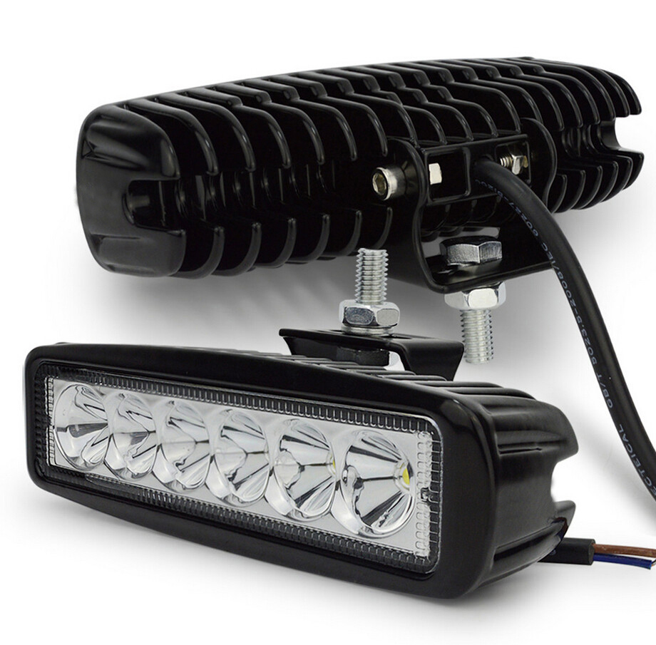 2pcs 18w DRL LED Work Light Worklight 10 30V 4WD Free Shipping12 Volt Led Work Lights