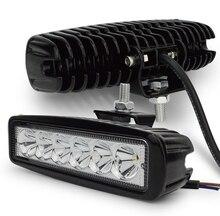 2 шт. 18 Вт DRL LED свет работы 10-30 В 4WD 12 В для бездорожью Грузовик Автобус Лодка фонарь