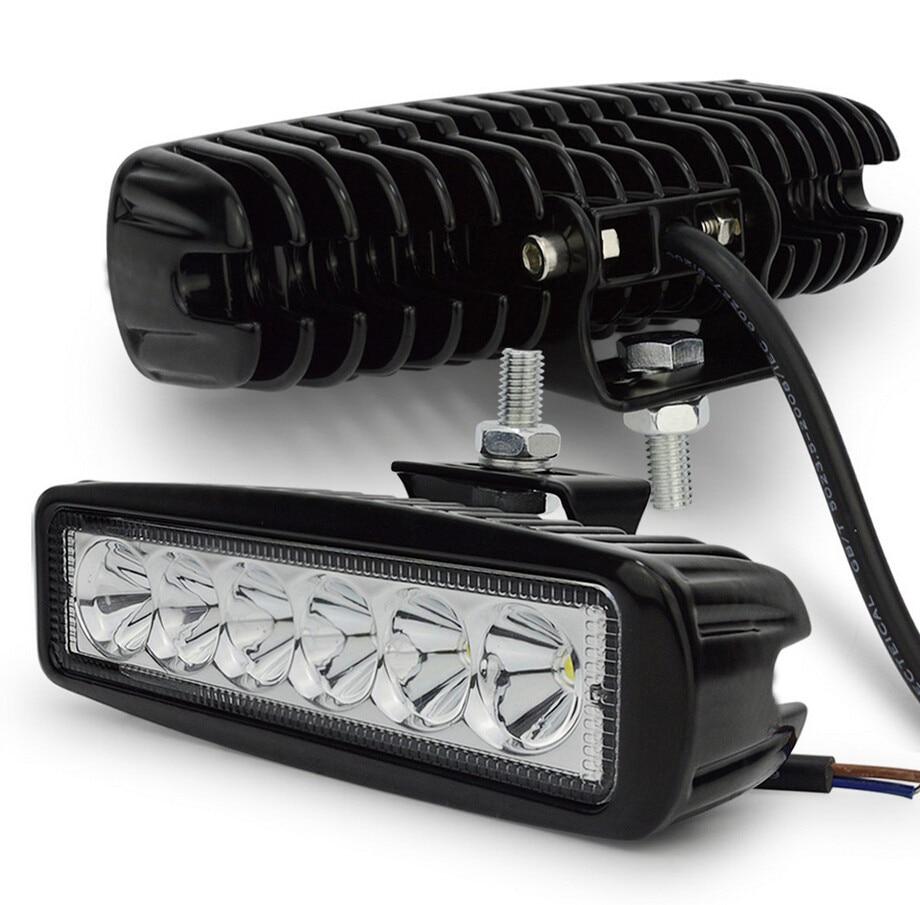 2pcs 18w DRL LED Work Light 10-30V 4WD 12v for Off Road truck bus boat fog light